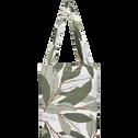 Housse de couette en coton 240x220cm motif laurier - vert-SARA