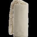 Drap housse en percale de coton lavé 60x120cm beige roucas-PALOMA