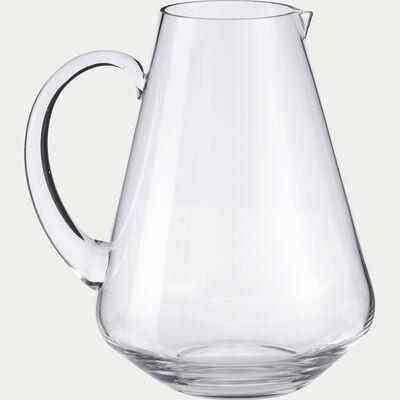 Pichet en verre avec anse - transparent 1,9L-AIGO