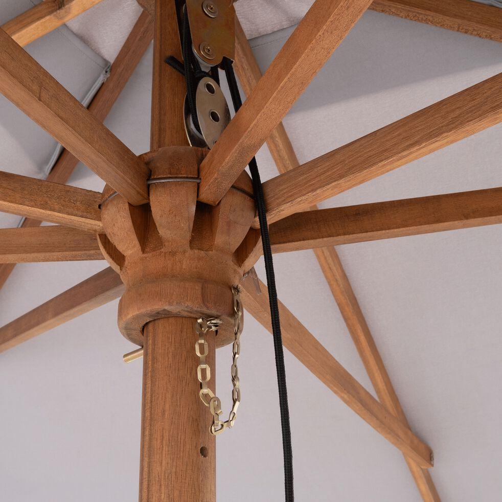 valloria parasol rectangulaire droit en eucalyptus 3x4m