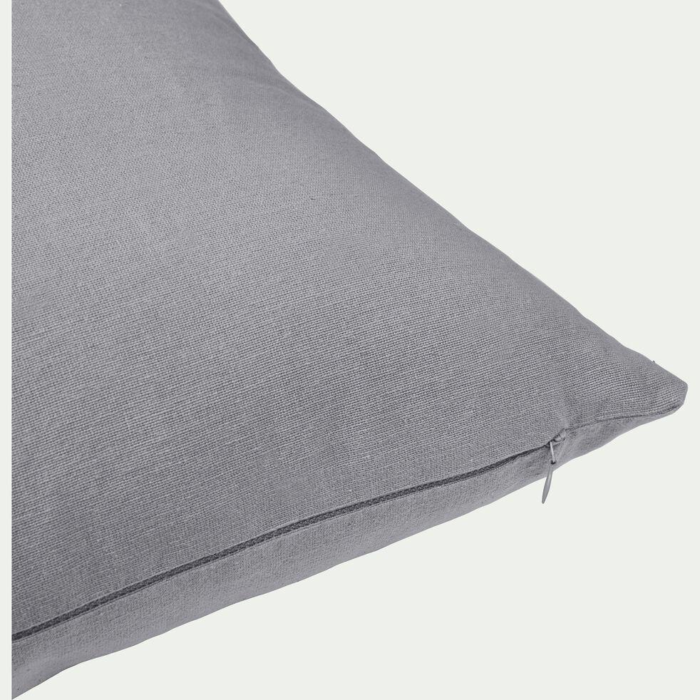 Coussin en coton - gris restanque 40x60cm-CALANQUES