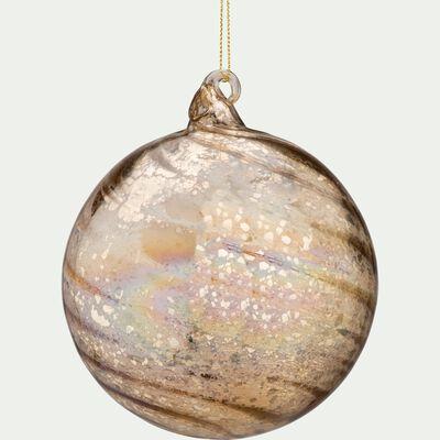 Boule de Noël en verre doré D12cm-BENEDICT