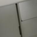 Buffet rétro vert cèdre 3 tiroirs et 2 portes coulissantes-AUBUN