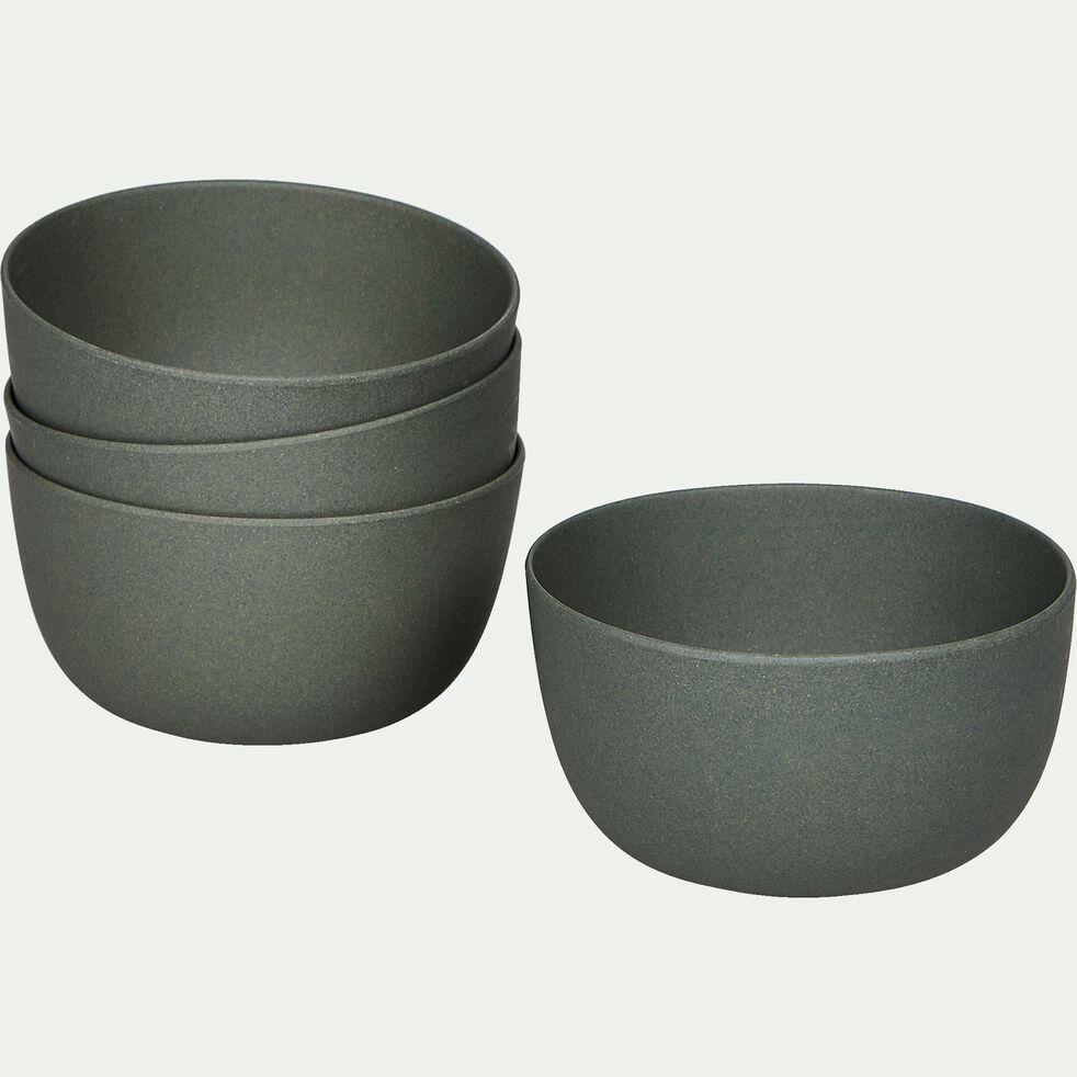 Lot de 4 bols en matières végétales - vert cèdre-HINX