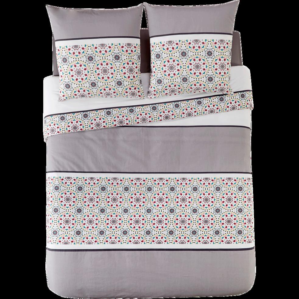 housse de couette 240x220 cm et 2 taies d 39 oreiller zingara 240x220 cm parures de lit alinea. Black Bedroom Furniture Sets. Home Design Ideas