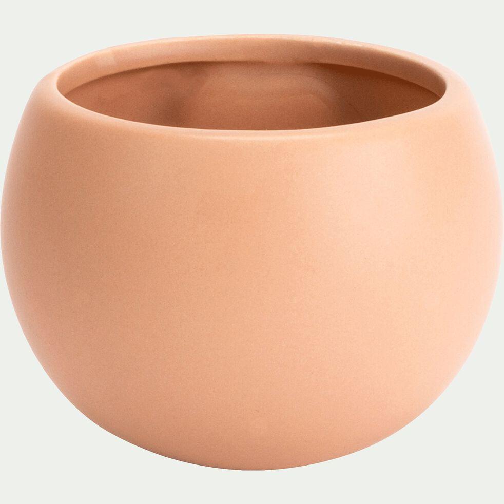 Cache-pot en céramique - rose sable - H10xD6cm-mai