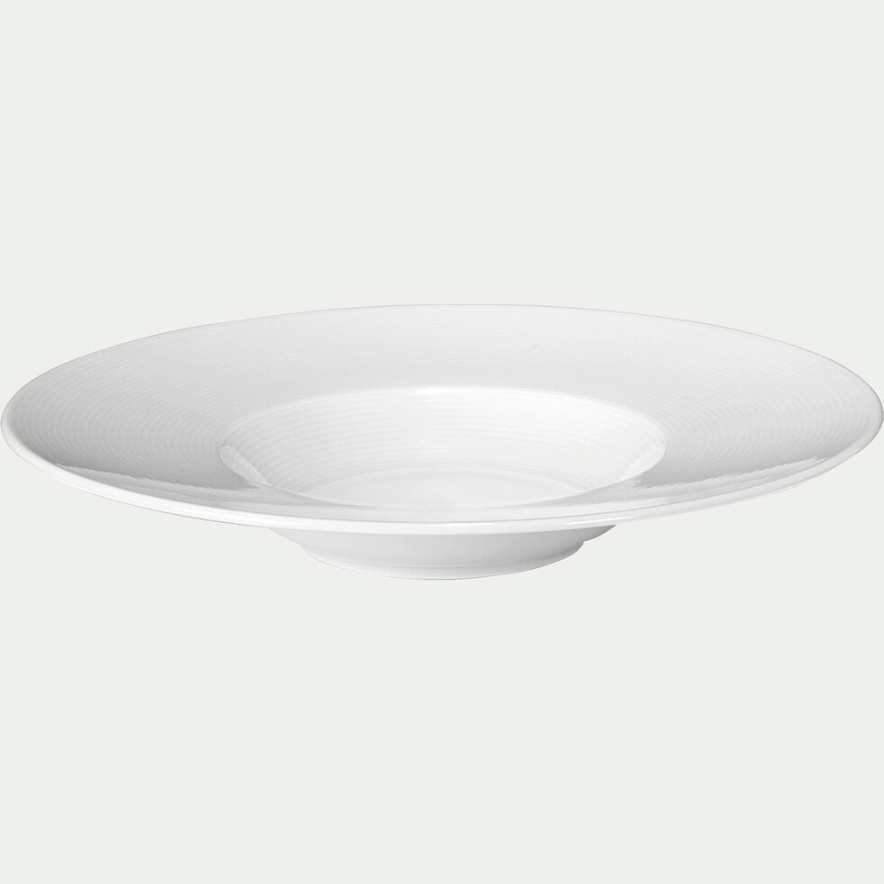 Assiette à risotto en porcelaine qualité hôtelière blanc D27cm-Eto