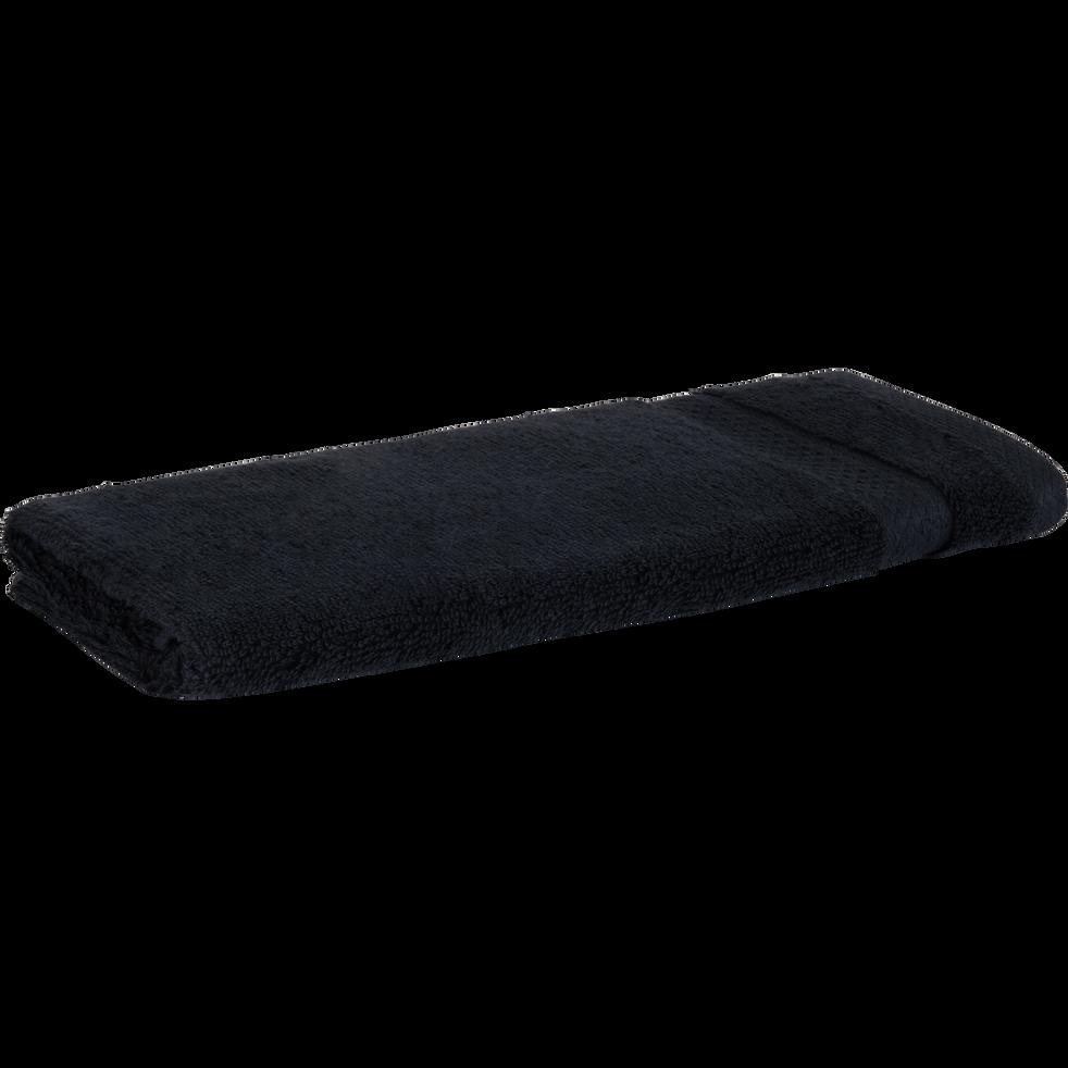 Serviette invité en coton 30x50cm gris calabrun-AZUR