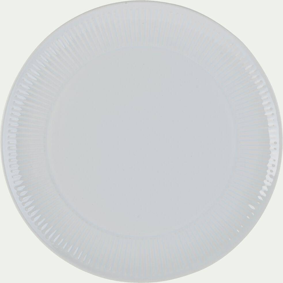 Assiette plate en faïence D27cm - blanc-MORA