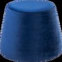 Pouf en velours bleu myrte-INES