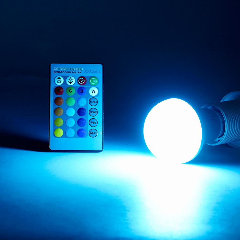 Ampoule LED technologique multicolore culot E27-AMP STANDAR