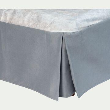 Cache-sommier gris 32cm - 140x200 cm-OPALINE
