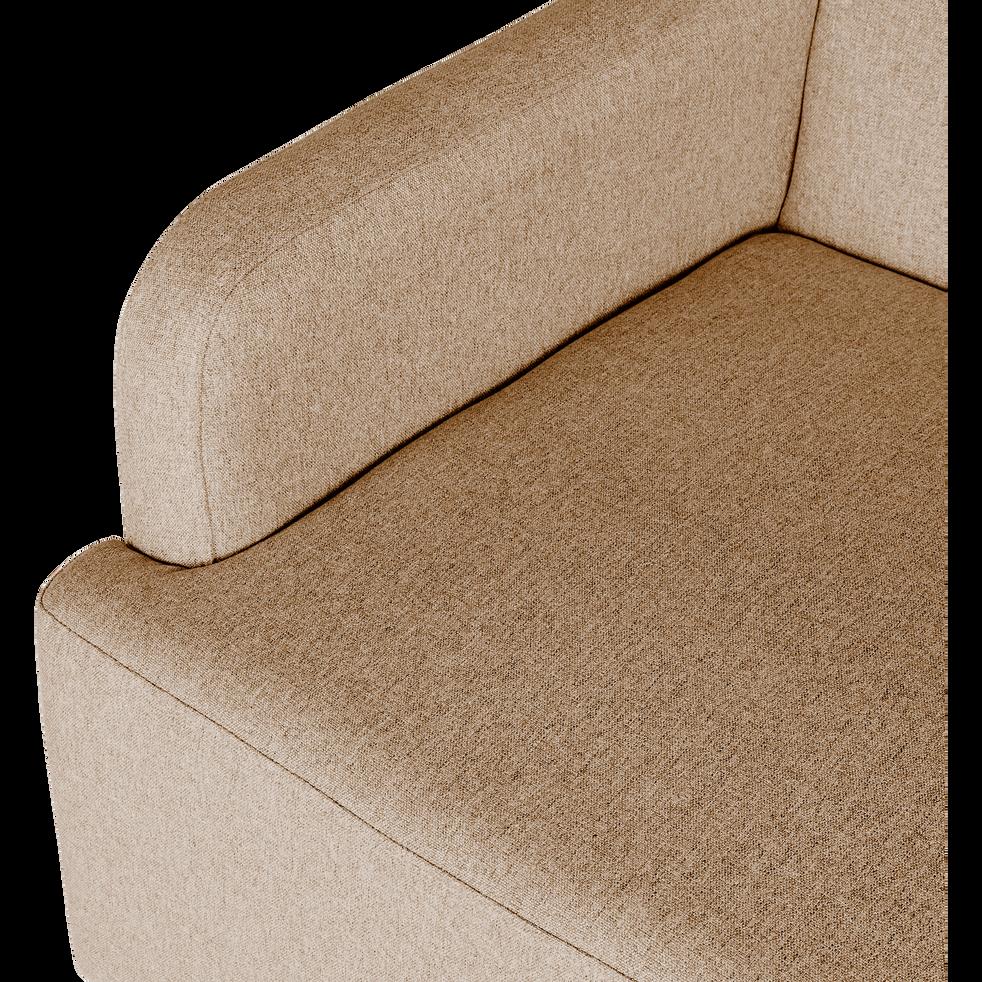 Canapé 2 places fixe en tissu beige roucas-NANS