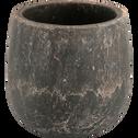 Cache-pot en céramique noir H15xD15 cm-Bari