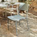 Chaise de jardin empilable en aluminium - bleu calaluna-TOMA