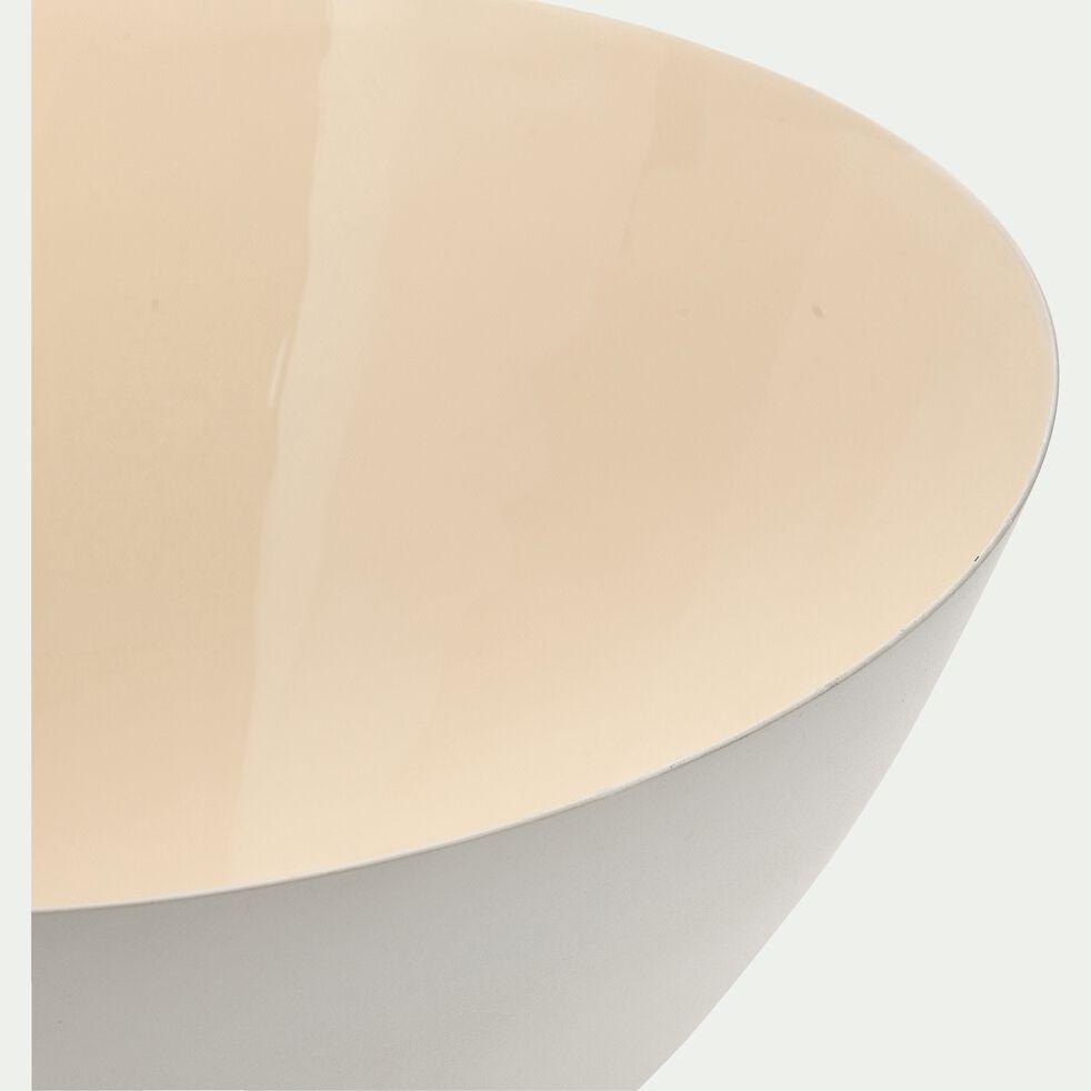 Saladier en métal blanc D29,5cm-PABLO