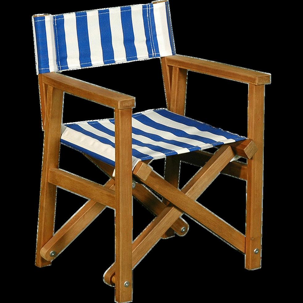 Chaise de casting pliable pour enfant rayures bleues-MAYA