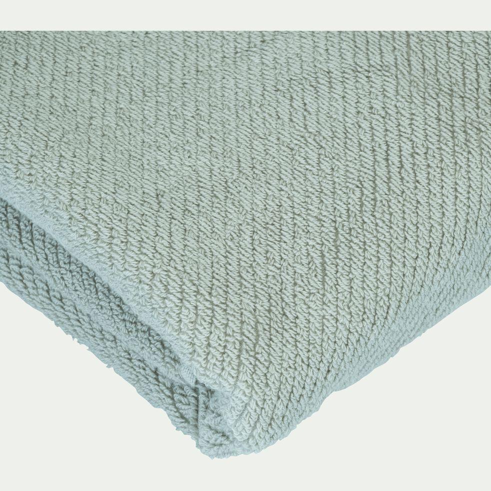 Drap de douche bouclette en coton bio - vert olivier 70x130cm-COLINE