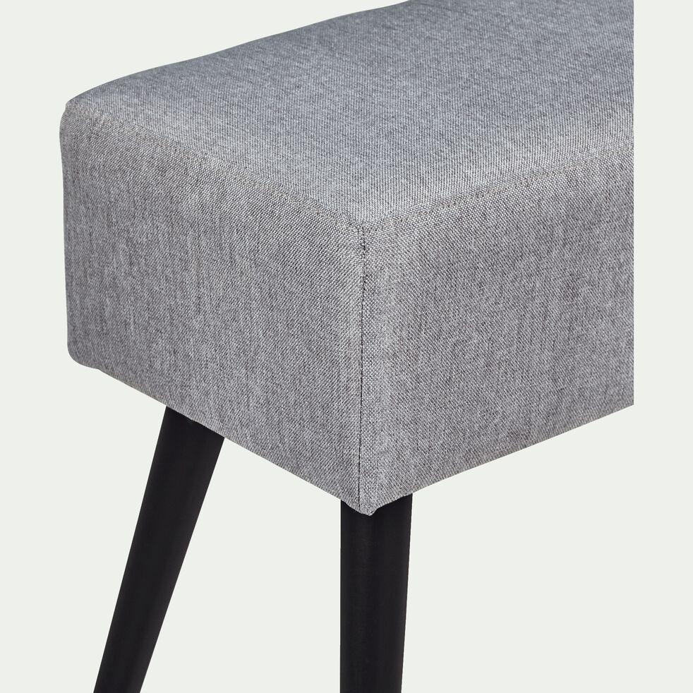 Banc en tissu gris borie - L100cm-SACHA