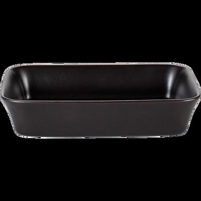 Plat à four rectangulaire en grès noir 32x20cm-ALVARA
