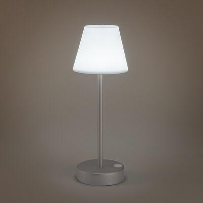 Lampe nomade rechargeable - argenté H32xD11cm-LOLA SLIM