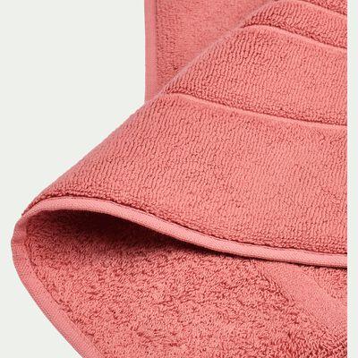 Tapis de bain en coton - rouge ricin 50x80cm-AZUR