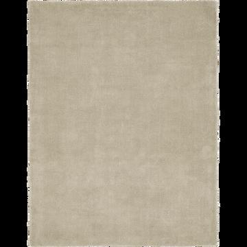Tapis 100x133 cm vert olivier-NISTOUN