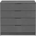 Commode 4 tiroirs Gris anthracite-BROOKLYN