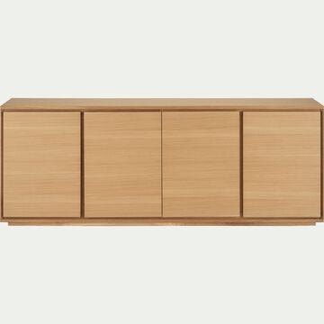 Buffet bas en bois 4 portes - naturel-AGOSTA