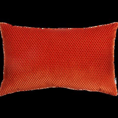 Coussin à motifs en velours orange 30x50cm-ADRIEN