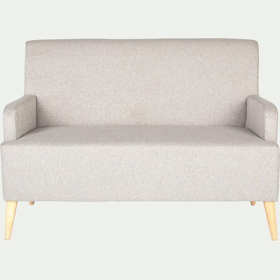 Canapé 2 places fixe en tissu gris borie-NANS