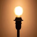 2 ampoules LED verre dépoli D4,5cm blanc chaud culot E14-CLASSIQUE