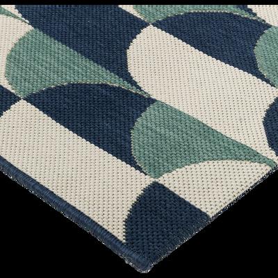 tapis intérieur et extérieur motif chevrons 120X170cm-CARO