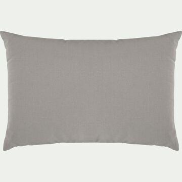 Coussin en coton - gris vésuve 40x60cm-CALANQUES