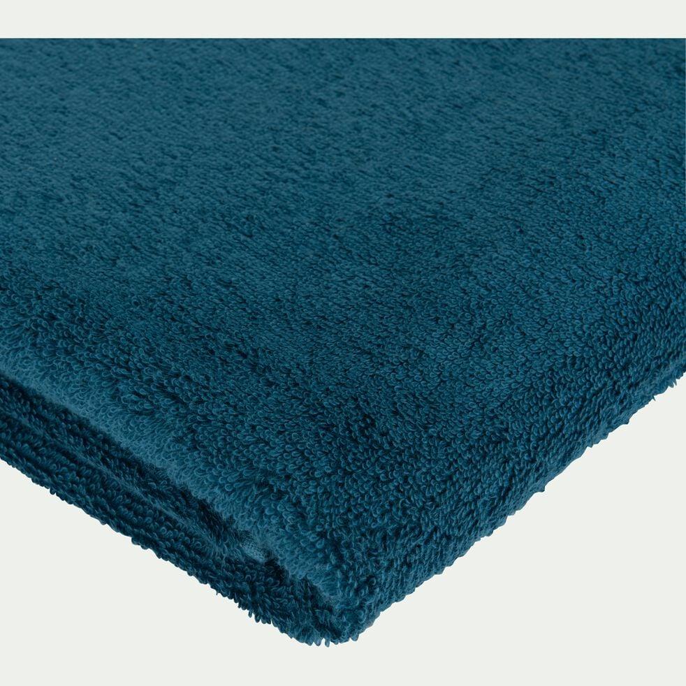 Drap de bain en coton peigné - bleu figuerolles 100x150cm-AZUR
