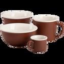 Mug en porcelaine marron 35cl-CAFI