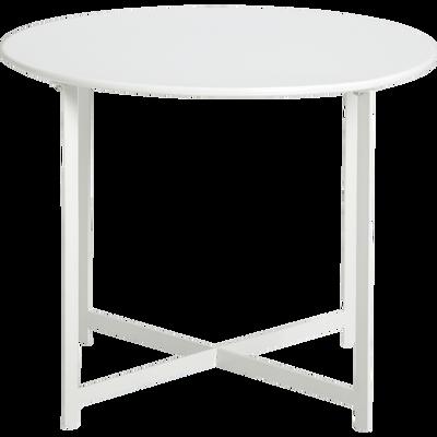 Table basse de jardin en acier blanc en acier-RETRA