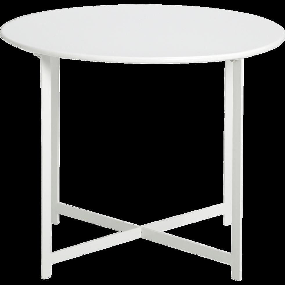RETRA - Table basse de jardin en acier blanc en acier