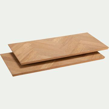 Lot de 2 allonges pour table Port bou plaqué chêne - naturel-PORT BOU