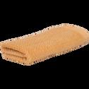 Serviette invité marron camel 30x50cm-COLINE