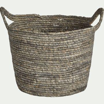 Panier déco en feuilles de maïs D30xH23cm-Milla