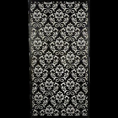 Décoration murale en métal noir 60x120cm-FULMALA