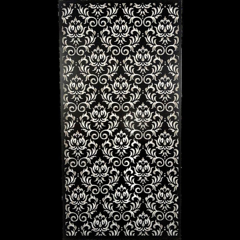 d coration murale en m tal noir 60x120cm fulmala. Black Bedroom Furniture Sets. Home Design Ideas