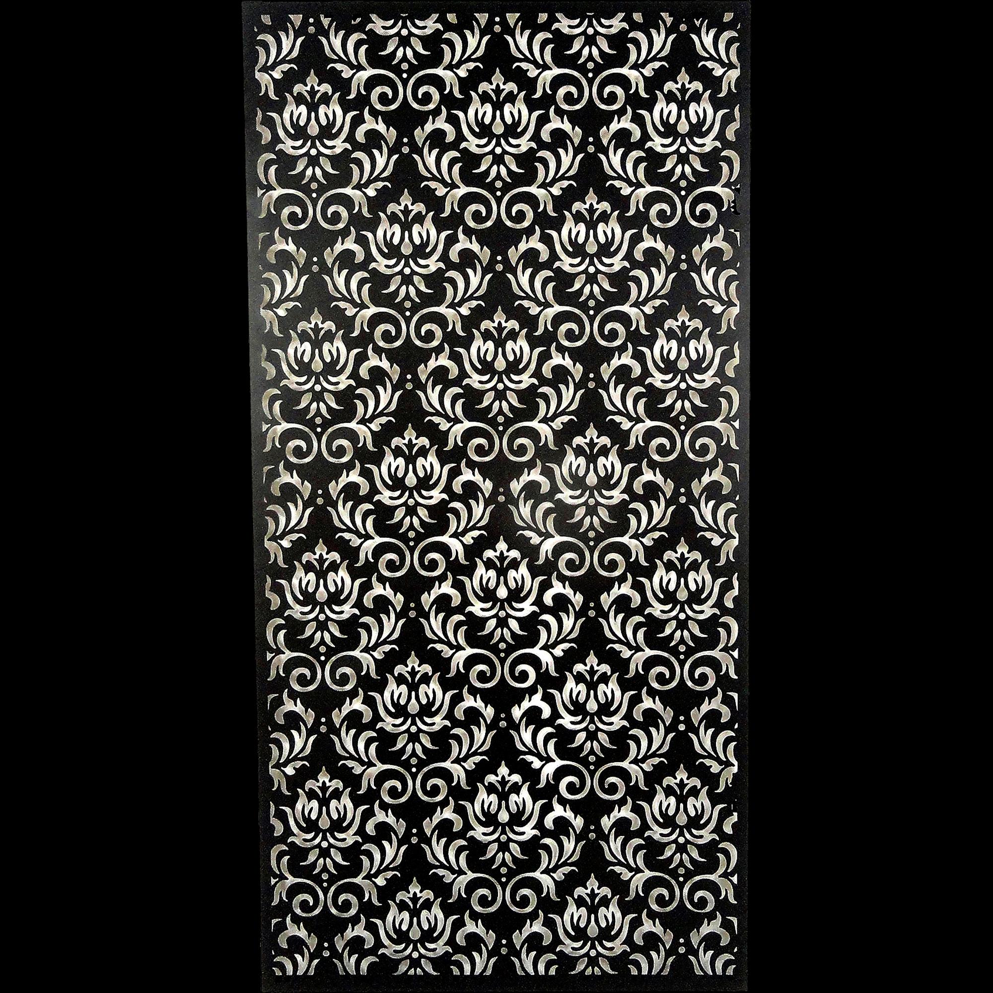 Décoration Murale En Métal Noir 60x120cm FULMALA