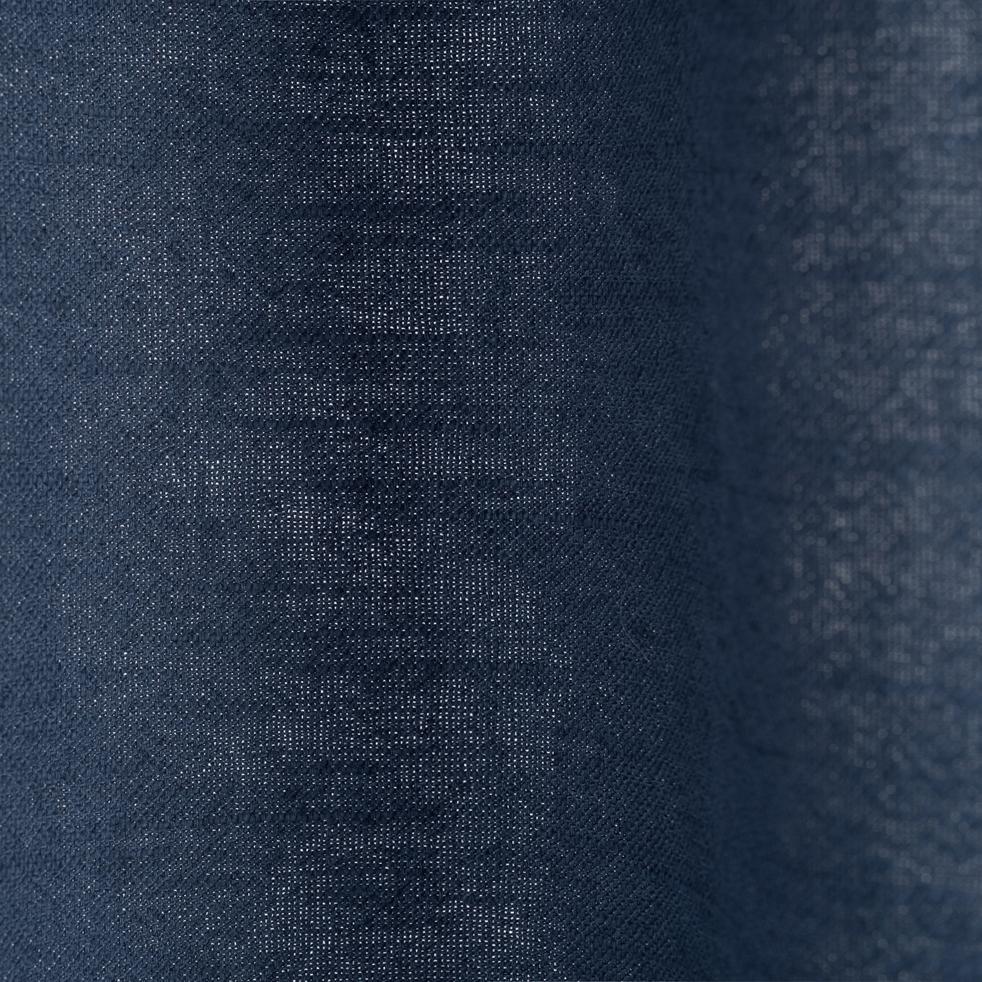 Rideau à oeillets en ramie bleu figuerolles 130x250cm-RAMY
