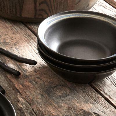 Coupelle en porcelaine D16cm - noir-FERRU