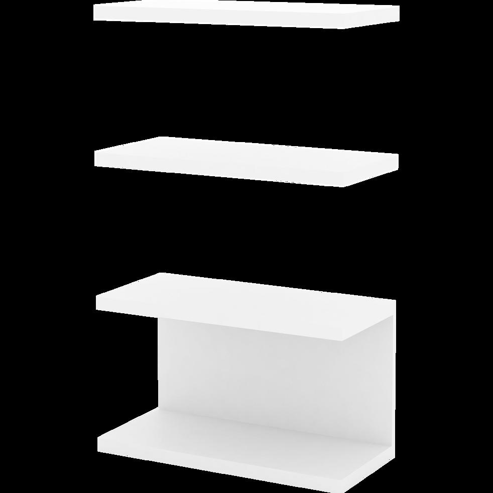 Ensemble d'étagères blanches pour bibliothèque L75cm-LORENA