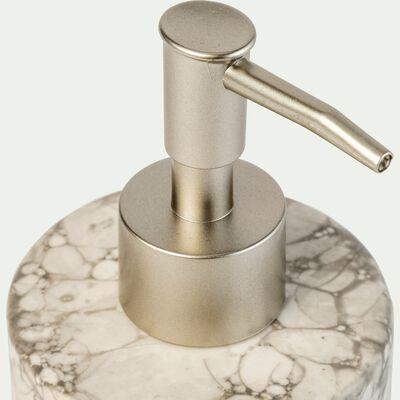 Distributeur à savon en céramique Blanc nervuré-Hanoï