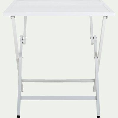 Table de jardin carrée en aluminium - gris restanque (2 places)-VITOR