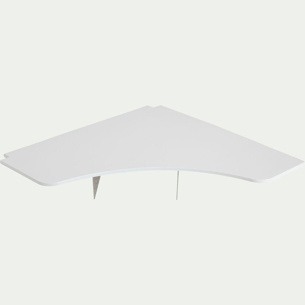Bureau d'angle en pin  - blanc-DANIS